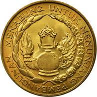 Monnaie, Indonésie, 10 Rupiah, 1974, SUP, Brass Clad Steel, KM:38 - Indonésie