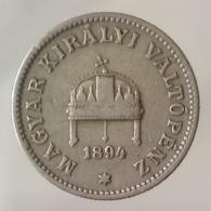 IMPERO AUSTRO UNGARICO 20 Filler  1894      BB+ - Ungheria