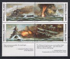 "MARSHALL ISLANDS - 11991 History Of The Second World War - Sinking Of The ""Bismarck"" (German Battleship), 1941  M489 - Marshall Islands"