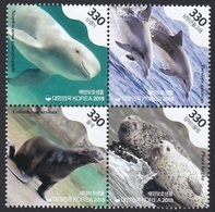 South Korea 2018 Nature, Indo-Pacific Bottlenose Dolphin, Finless Porpoise, Spotted Seal, Fur Seal, Dauphin - Corée Du Sud