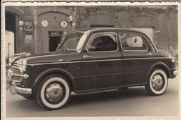 AUTO CAR VOITURE FIAT 1100 TARGA CAGLIARI - FOTOCARTOLINA ORIGINALE 1958 - Cars