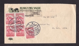Mexico: Cover To Switzerland, 1928, 5 Stamps, Via New York (traces Of Use) - Mexiko