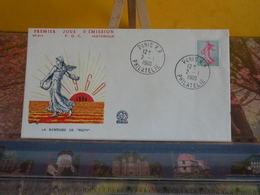 La Semeuse De Roty - (75) Paris - 2.1.1960 - FDC 1er Jour N° 316 - Coté 3€ - 1960-1969