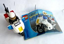FIGURINE LEGO 7235 POLICE MOTORCYCLE MOTARD Avec Notice 2005 - MINI FIGURE - Figures
