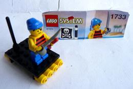 FIGURINE LEGO 1733 RADEAU SHIPWRECKED PIRATE Avec Notice 1994 - MINI FIGURE - Figurines