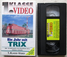 Ein Jahr Mit TRIX 2004 1. Klasse Video VHS Kassette Neuheiten Film 2005 - Modell-Eisenbahn