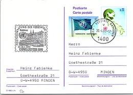VEREINTE NATIONEN - ENTIER POSTAL S5 - CONFLUENTES 2000 24-26.4.1992   /2-54 - Centre International De Vienne