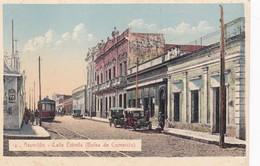 ASUCION. CALLE ESTRELLA (BOLSA DE COMERCIO) AÑO 1927. PARAGUAY. TRAMWAY VINTAGE CARS- BLEUP - Paraguay