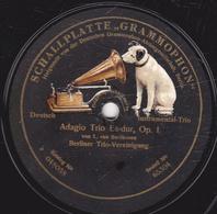 "78 Trs - 30,5 Cm - état B - SCHALLPLATTE ""GRAMMOPHON"" - Adagio Trio Es-dur, Op. 1 - Extase - Berliner Trio-Vereinigung - 78 T - Disques Pour Gramophone"