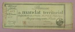 Promesse De Mandat Territorial - Bon Pour 500 Francs, Impression Noire, Série 11, Lafaurie N°203 - Assignats & Mandats Territoriaux