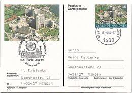 VEREINTE NATIONEN - ENTIER POSTAL S6 - BAHNPHILEX'94 16-18.9.1994 OSNABRÜCK  /2-60 - Centre International De Vienne