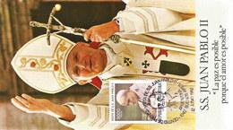Argentinien1982: Karte Besuch Von Papst Johannes Paul II. #1PK - Ägypten