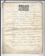 CALAIS 1700 Parchemin 24 P. Vente Maison Rue D'Orléans Par Isabelle Dethosse à Michel Lointhier - Timbre Gén. Amiens - Manuscripts