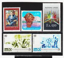 SRO09 VEREINTE NATIONEN UNO GENF 1987 Michl 151/55 ** Postfrisch - Genf - Büro Der Vereinten Nationen