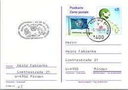 VEREINTE NATIONEN - ENTIER POSTAL S5 - MOTIVA'92 OLYMPIA UND SPORT SINDELFINGEN 23-25.10.1992 /2-63 - Centre International De Vienne