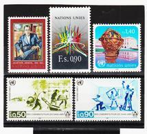 SRO10 VEREINTE NATIONEN UNO GENF 1987 Michl 151/55 ** Postfrisch - Genf - Büro Der Vereinten Nationen