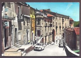 SERRASTRETTA, Corso Mazzini, Fiat 1100 - Viaggiata - Negativo Bianco E Nero Colorato A Mano - Italia