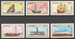 Philippines 1984 Mi# 1629-34** SHIPS - Philippines