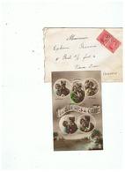 CORRESPONDANCE MILITAIRE SARS - LA - BUISSIERE POUR VIEUX DIEU PARS ANVERS (BELGIQUE ) 1922 - 1914-18