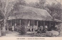 PAUPA. ILES GILBERT. COUVENT DES SOEURS A TARAWA. CIRCA 1900s VINTAGE ETHNIC. TBE- BLEUP - Papoea-Nieuw-Guinea