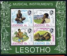 Lesotho ** Bloc 1 - Instruments De Musique - Lesotho (1966-...)