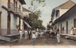 RECUERDO DE NICARAGUA. CALLE EN MANAGUA. VENDIDA POR G ALANIZ.  CIRCULEE CIRCA 1909 SANS TIMBRE. UNIQUE- BLEUP - Nicaragua