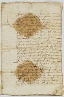 MARIAGE  De 1637  D'un NOBLE De  SAVOIE Entre  Per...de Villeneuve    Et Mich... D'Aiguebelette  -      - Archive Privée - Algemene Zegels