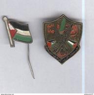 Lot Badge Et Epingle De Cravatte Palestine - Pin's