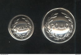 Lot De 2 Boutons De Police - Boutons