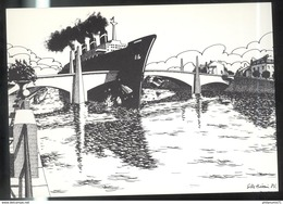 CPM Illustrée Chalon Sur Saône - Pont Saint Laurent - Exemplaire 38 Sur 300 - Chalon Sur Saone