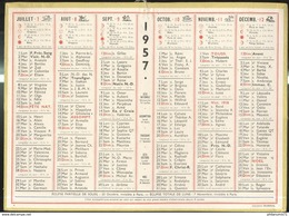 Calendrier 1957 Format 21,5 X 29 Cm - Calendriers