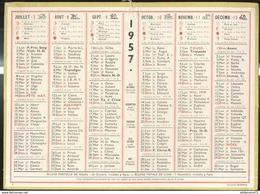 Calendrier 1957 Format 21,5 X 29 Cm - Kalender