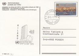 NATIONS UNIES  -CP  ENTIER POSTAL 0.90 - GENEVE 29.3.93  /2-71 - Briefe U. Dokumente