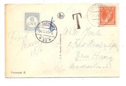 NIEDERLANDE - PORTO, Michel 70 6 Cent, 1948, Ansichtskarte Aus Luxemburg - Tasse