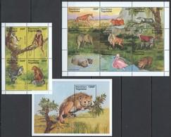 T925 TOGO FAUNA WILD ANIMALS BIRDS #2303-15 MICHEL 19 EURO 2KB+1BL MNH - Stamps