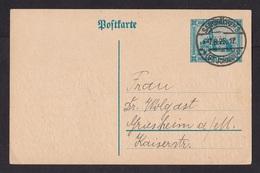 Saar: Stationery Postcard, 1925 (traces Of Use) - 1920-35 Saargebied -onder Volkenbond