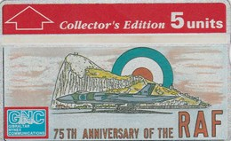 Gibraltar - 75th Anniversary Of The RAF Collectors Ed. - Gibraltar