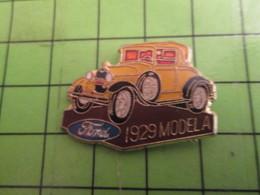 413d Pin's Pins : Rare Et Belle Qualité : THEME AUTOMOBILES : FORD MODEL A DE 1929 JAUNE - Ford