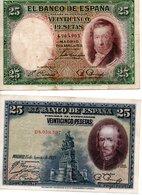 Billet Espagnol De 25 Pesetas ( 15 Aout 1928 ,et Avril 1931 ) - [ 1] …-1931 : Premiers Billets (Banco De España)