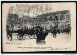 CPA PRECURSEUR FRANCE- TOULON (83)- FETES FRANCO-ITALIENNES- LE DUC DE GENES REND VISITE AU PRESIDENT LOUBET- CARROSSE - Toulon