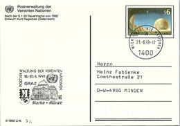 VEREINTE NATIONEN  -CP  ENTIER POSTAL S6 - GRAZ 18-20.6.1993 - WIEN 21.6.1992 /2-74 - Centre International De Vienne