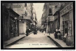 CPA ANCIENNE FRANCE- TOULON (83)- LA RUE D'ALGER TRES GROS PLAN ANIMÉ- COMMERCES- PAPETERIE ET CP- COUTELIER - Toulon