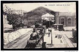 CPA ANCIENNE FRANCE- TOULON (83)- INTERIEUR DE LA GARE- TRAIN A VAPEUR- LOCOMOTIVE GROS PLAN- - Toulon