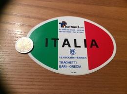 "AUTOCOLLANT, Sticker ""pan Travel BARI - ITALIA - VENTOURIS FERRIES - TRAGHETTI BARI GRECIA"" Italie - Aufkleber"