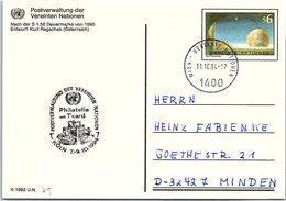 VEREINTE NATIONEN  -CP  ENTIER POSTAL S6 - PHILATELIA T'CARD HÖLN 7-9.10.1994  - WIEN 11.10.94  /2-75 - Centre International De Vienne
