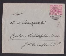 Saar: Cover To Germany, 1927?, 1 Stamp (minor Crease) - 1920-35 Saargebied -onder Volkenbond