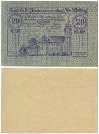 Biedermannsdorf Bei Mödling, 1 Schein Notgeld 1920, Kirche, Österreich 20 Heller - Oesterreich