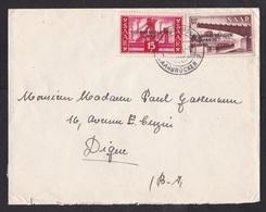 Saar: Cover To Belgium, 1955, 2 Stamps, Industry, Overprint, Referendum (minor Crease) - 1947-56 Gealieerde Bezetting