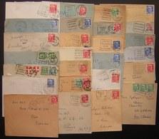 Daguin , Lot De 26 Lettres Avec Daguin Divers, Voir Photos ! - Mechanical Postmarks (Other)