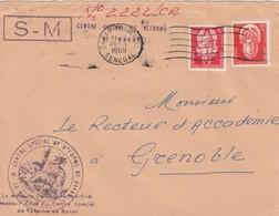 LETTRE SENEGAL. 24 10 60. DAKAR  POUR GRENOBLE. TIMBRES DE SERVICE 25F / 2 - Storia Postale